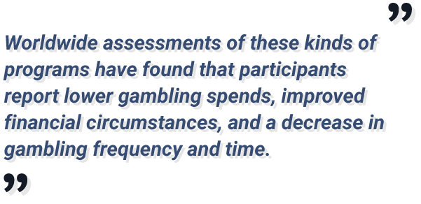 self-exclusion programs report lower gambling spends and frequency for participants