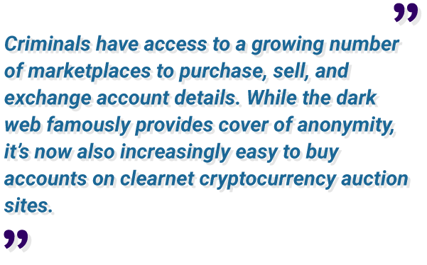 easy to buy account details on clearnet cryptocurrency auction sites
