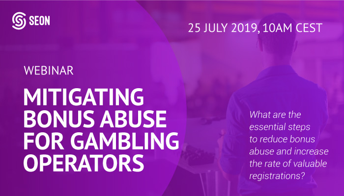 Gambling Promo Abuse Webinar - Mitigating Bonus Abuse for gambling operators