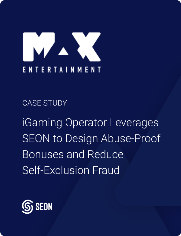iGaming Operator Leverages SEON to Design Abuse-Proof Bonuses and Reduce Self-Exclusion Fraud