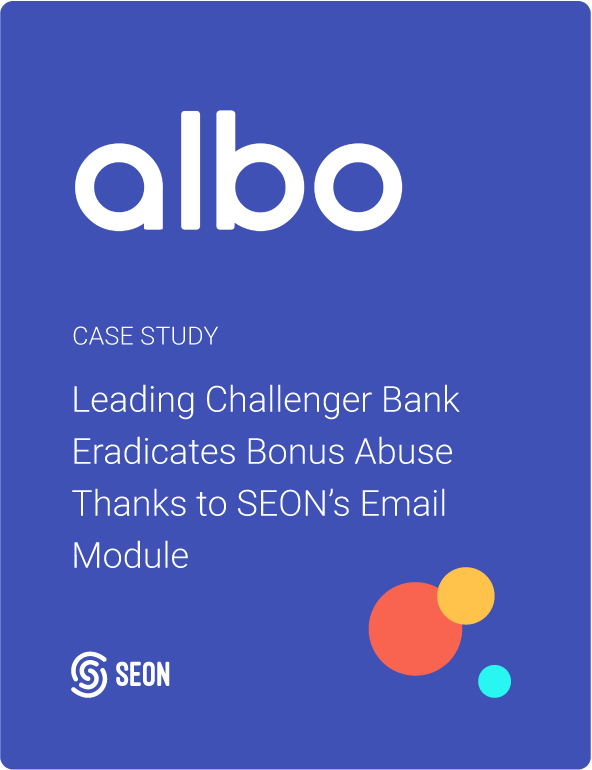 Leading Challenger Bank Eradicates Bonus Abuse Thanks to SEON's Email Module