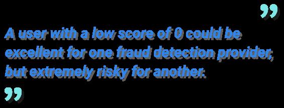 fraud scoring quote