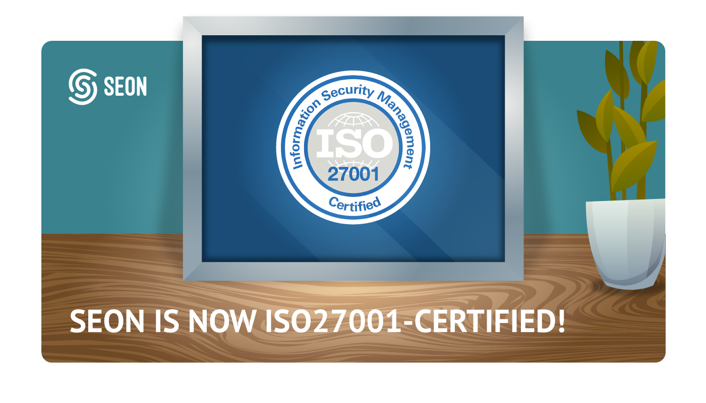 SEON ISO27001 certification graphics
