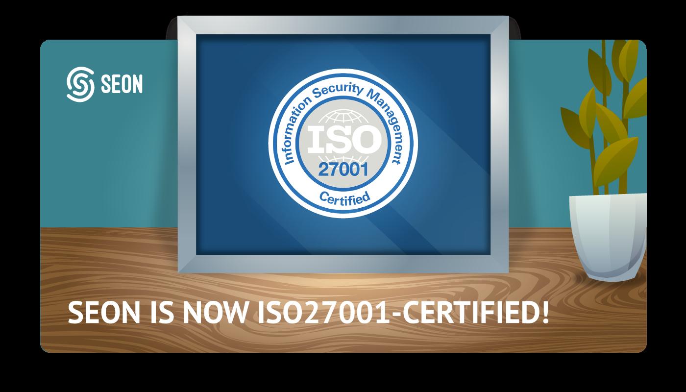 SEON ISO27001 certification graphics