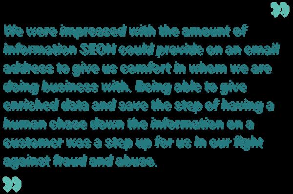 Jacqueline Hart quote about SEON's services