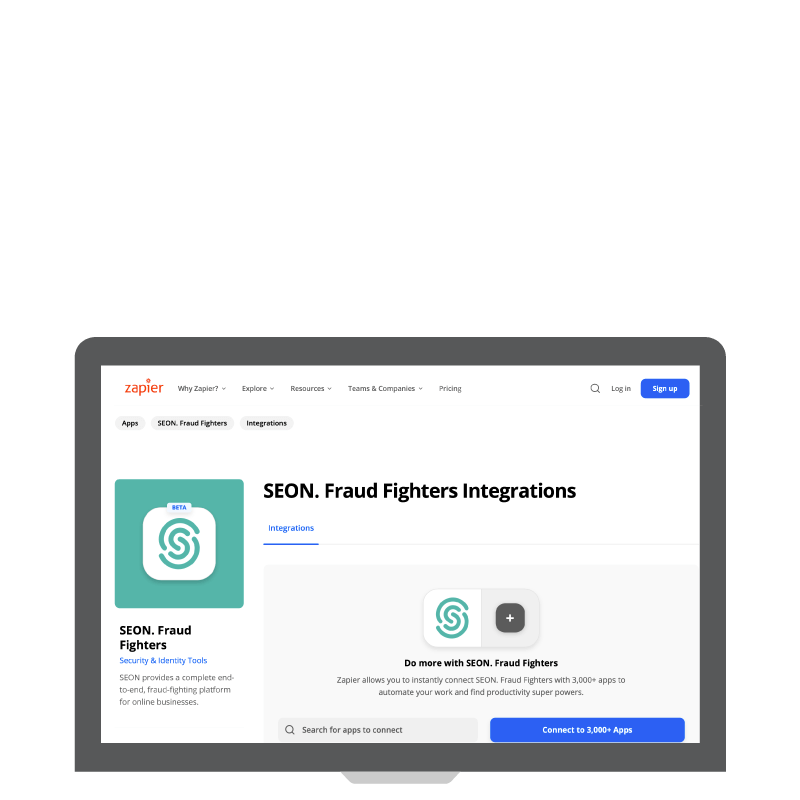 Connect SEON to 3000+ Apps With a Zapier Integration