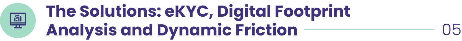 The Solutions: eKYC, Digital Footprint Analysis and Dynamic Friction