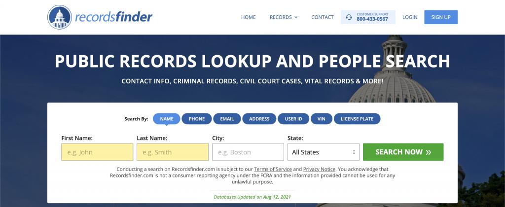 RecordsFinder - Sketchy US Service for Background Checks - image