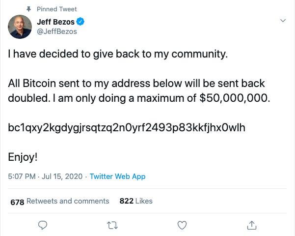 Jeff Bezos Screenshot, Jeff Bezos Hacked Tweet